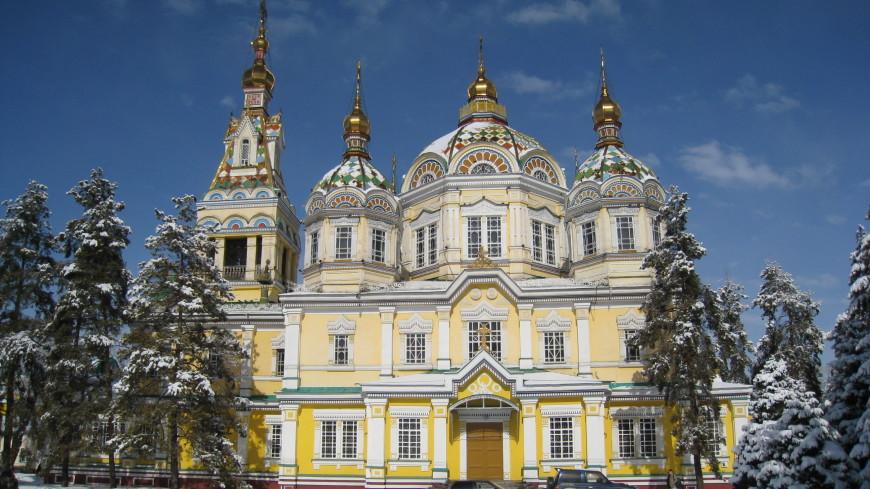 На Рождество в Алматы впервые с начала реконструкции открыли Вознесенский собор