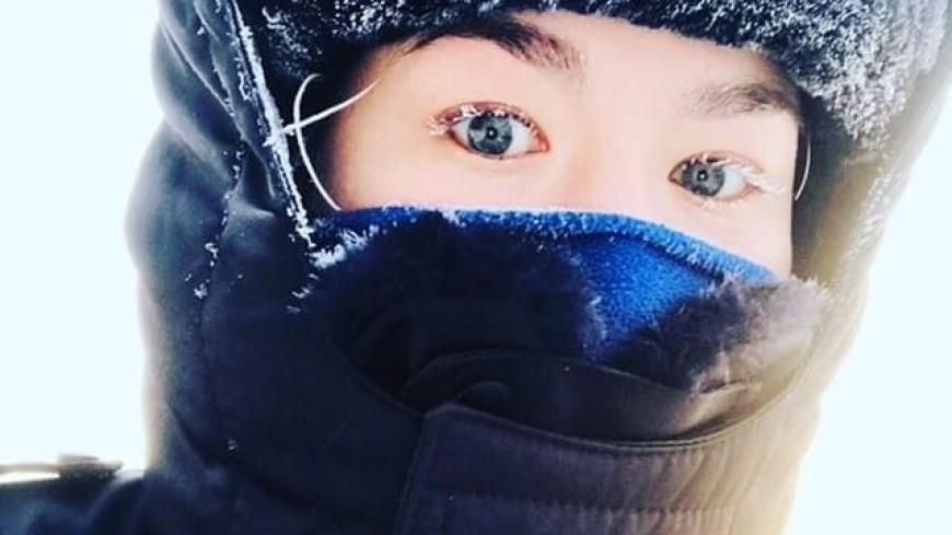 Зимний флешмоб: якутские полицейские показали фото с заснеженными ресницами
