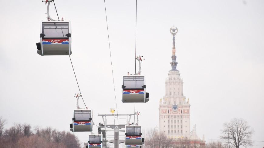 На три дня изменится график работы московской канатной дороги