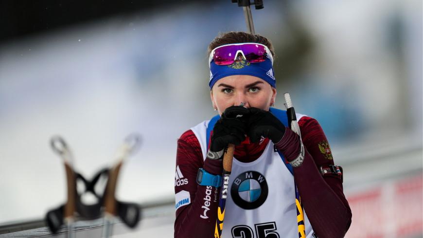 Россиянка Виктория Сливко выиграла спринт на биатлонном Кубке IBU