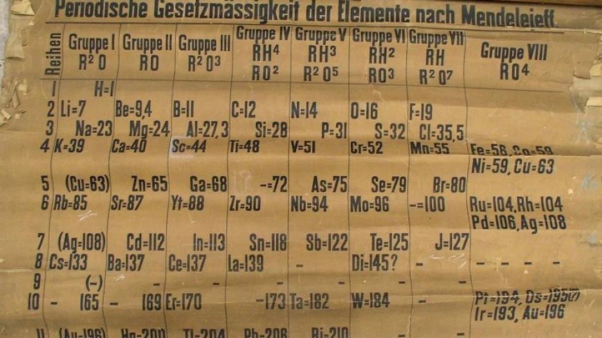 В кладовке шотландского университета нашли первую таблицу Менделеева