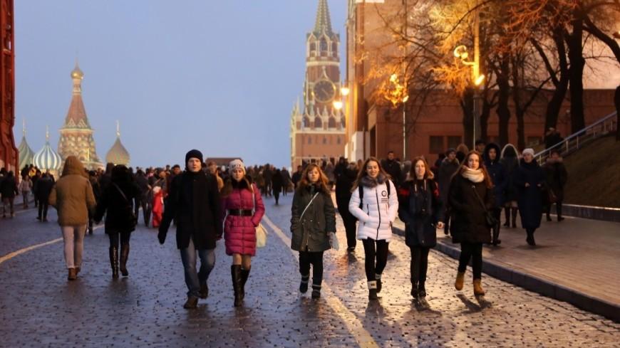 Люди спешат по своим делам в предновогодней Москве