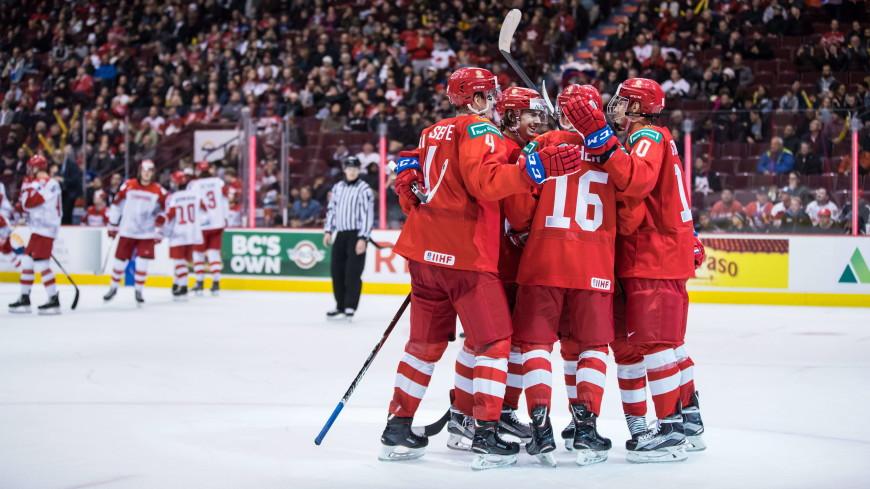 Молодежная сборная России одолела Канаду и вышла в плей-офф ЧМ по хоккею