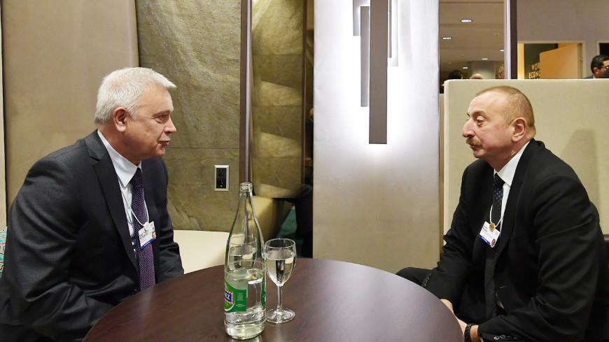 В Давосе Алиев и Алекперов обсудили совместные проекты «Лукойла» и Азербайджана