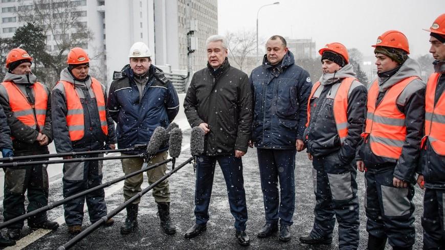 Собянин открыл разворотную эстакаду на Волоколамском шоссе
