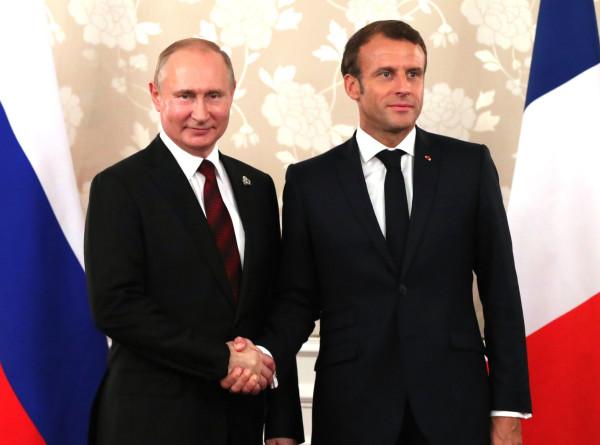 Путин и Макрон договорились активизировать работу в «нормандском формате»