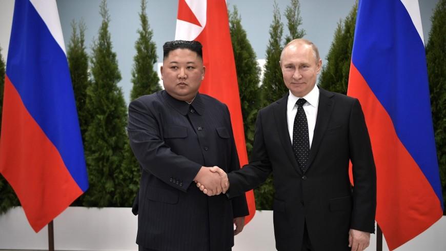 Путин поздравил Ким Чен Ына с годовщиной освобождения Кореи