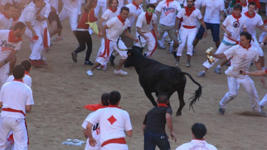 Памплона бега быков, Сан-Фермин, фоторепортаж, памплона, ируна, животные, быки, праздники, сан-фермин, бега быков