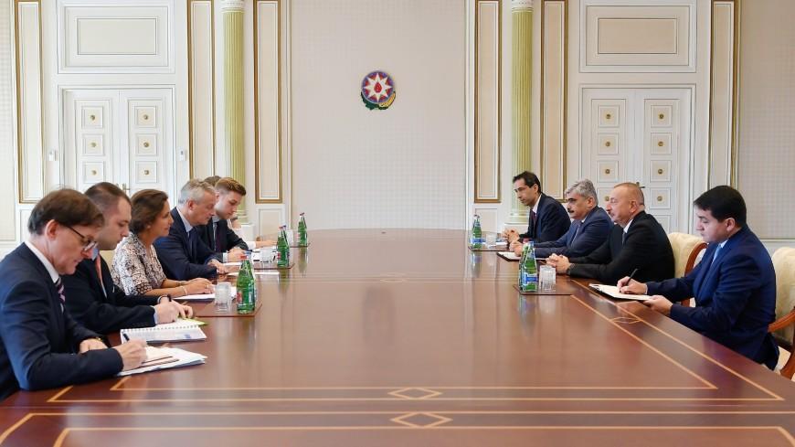 Алиев оценил работу французского бизнеса в Азербайджане