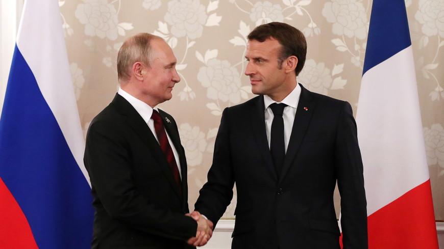 Путин пригласил Макрона в Россию на празднование 75-летия Победы