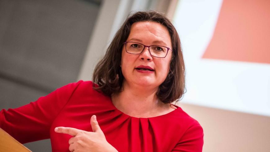 Глава Социал-демократической партии Германии объявила об отставке