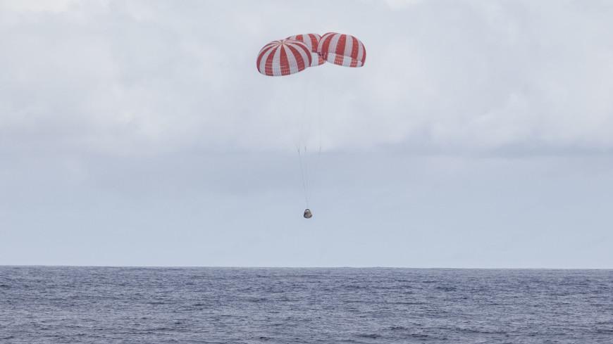 Космический «грузовик» Cargo Dragon успешно приводнился в Тихом океане