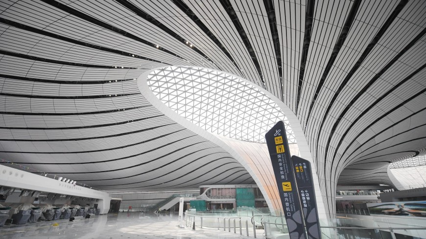 Самый крупный в мире аэропорт построили в Пекине