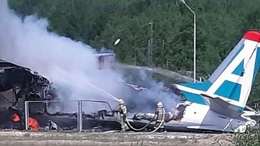 Авария Ан-24 в Бурятии: пассажир снял крушение самолета на видео