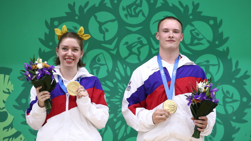 Российские стрелки из пистолета взяли первое золото Европейских игр