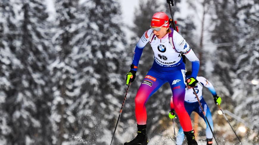 Кузьмина выиграла гонку преследования на последнем этапе КМ в Норвегии