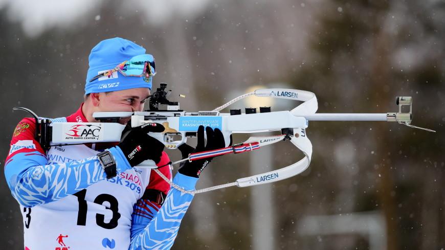 Сборная России по биатлону выиграла бронзу мужской эстафеты на ЧМ