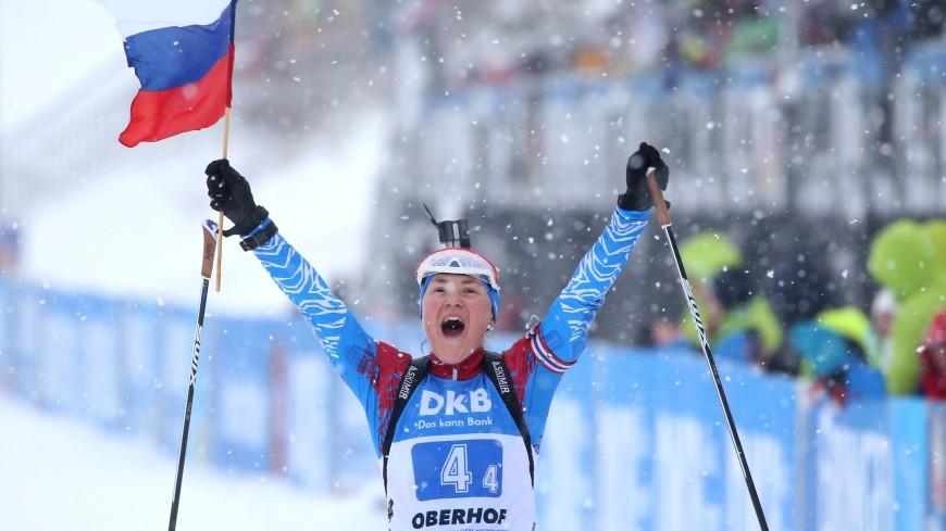 Россиянка Юрлова-Перхт завоевала серебро ЧМ по биатлону