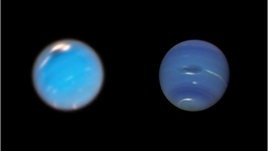 Астрономы впервые увидели рождение бури на Нептуне