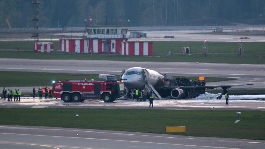 Опубликованы кадры эвакуации пилота из горящего SSJ-100