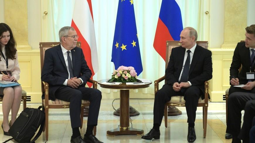 Путин и президент Австрии отметили успешное развитие отношений двух стран