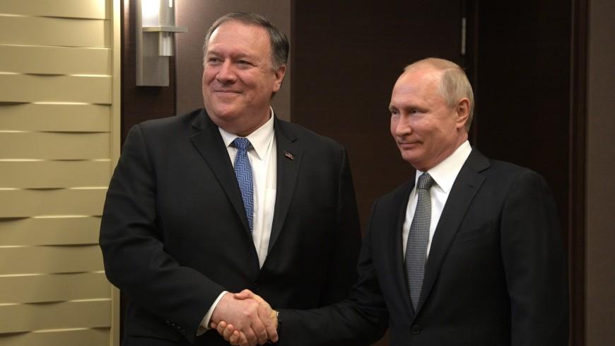 Помпео назвал продуктивным разговор с Путиным