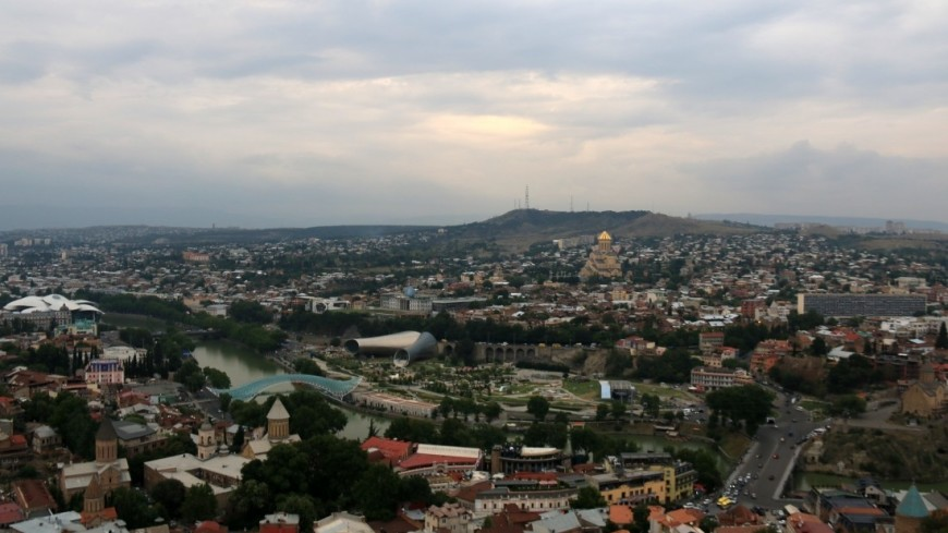 Вид на город (Тбилиси),Грузия, Тбилиси, старый город, дом,