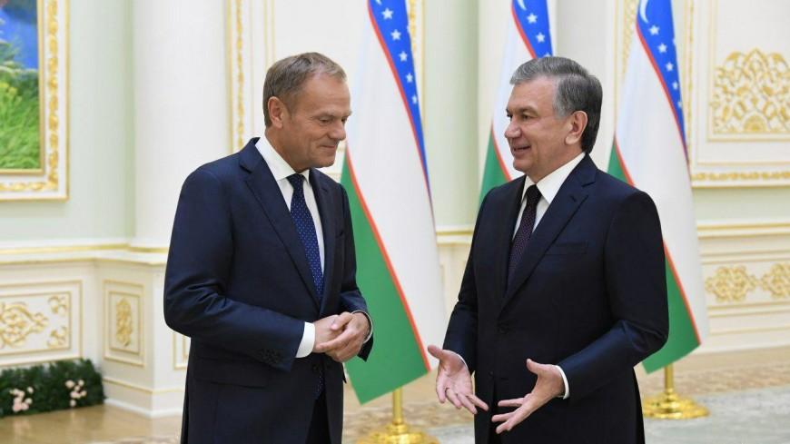 Мирзиеев и Туск обсудили сотрудничество в Центральной Азии