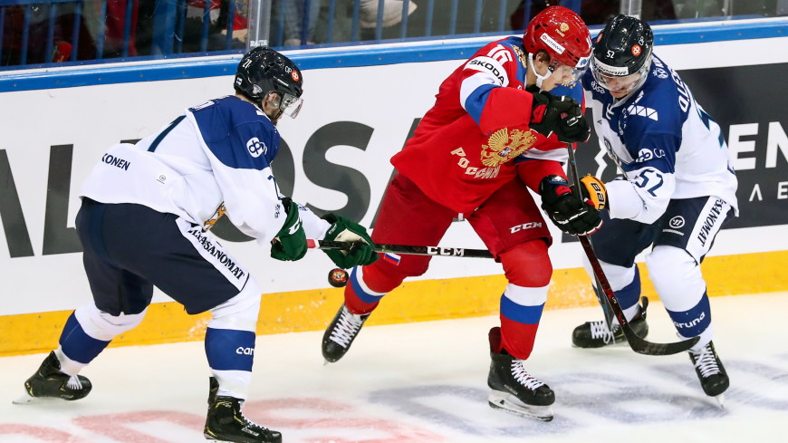 Сборная России по хоккею уступила финнам в Евротуре