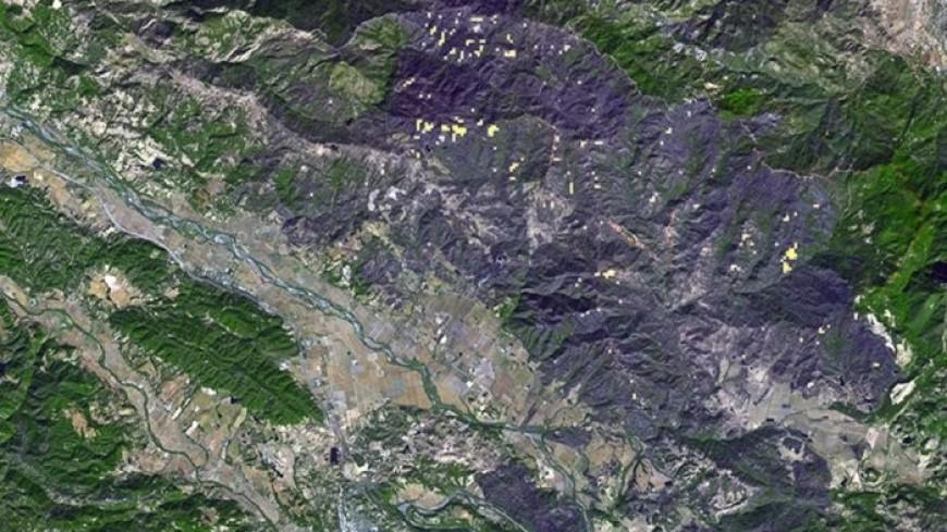 Пожар в Калифорнии оставил «шрам» на поверхности Земли