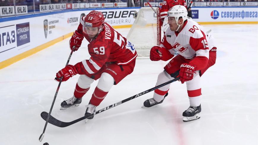 Хоккеисты «Спартака» прервали серию «Витязя» из десяти побед