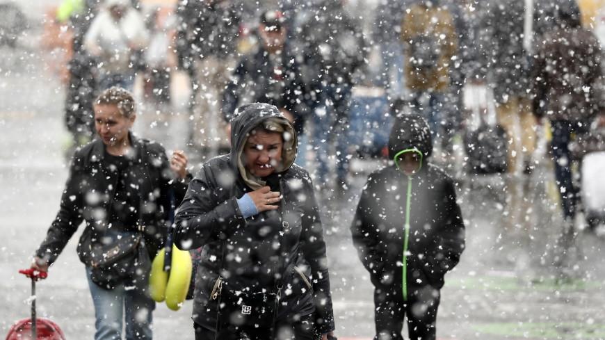 Зима близко: в Москве и области выпал мокрый снег