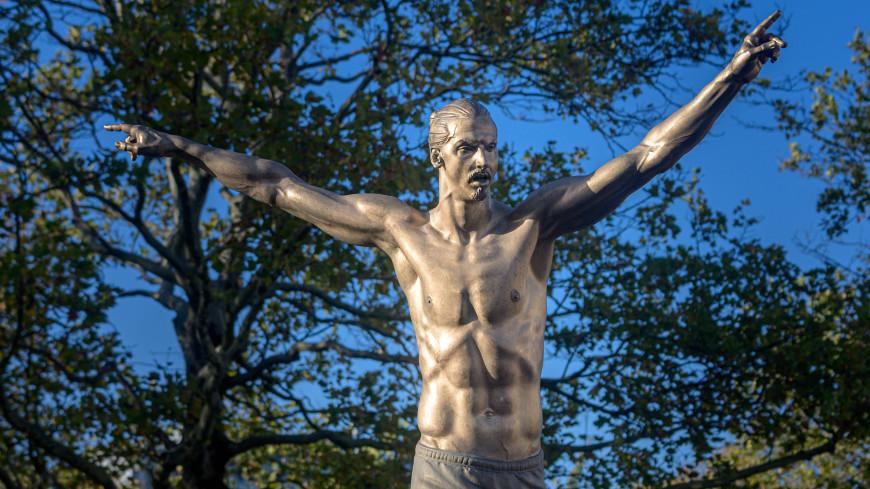 Ибрагимович открыл бронзовый памятник самому себе