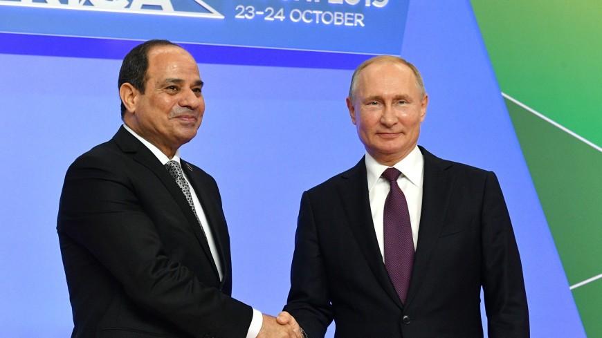 Путин на ощупь сравнил галстук главы Египта с собственным