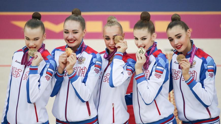 Российские гимнастки завоевали восемь из девяти золотых медалей на ЧМ в Баку