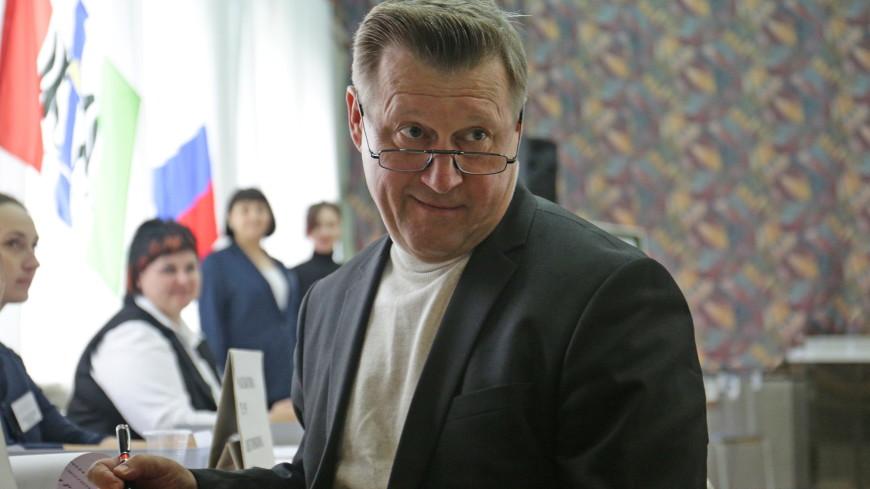 Действующий мэр Новосибирска Анатолий Локоть на выборах набирает свыше 50% голосов