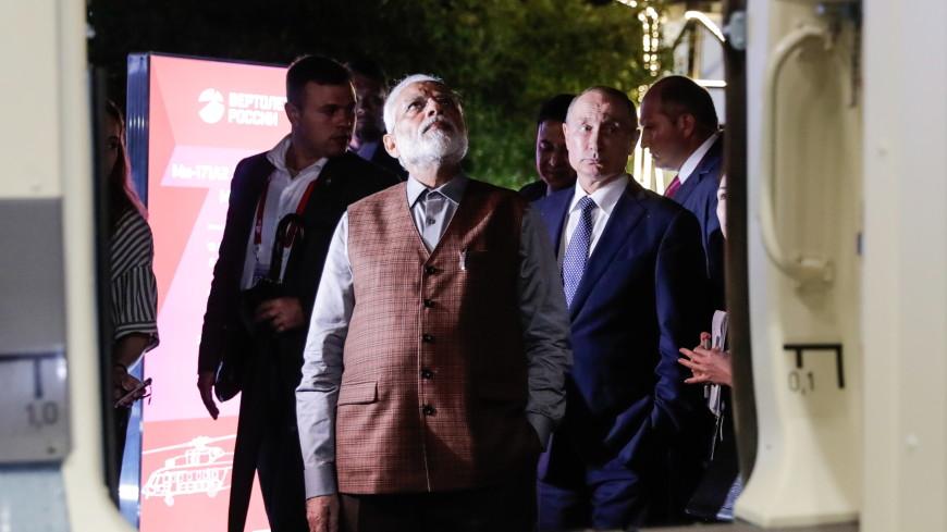 «Мне нравится, очень удобный»: Путин рассказал Моди о вертолете для Индии