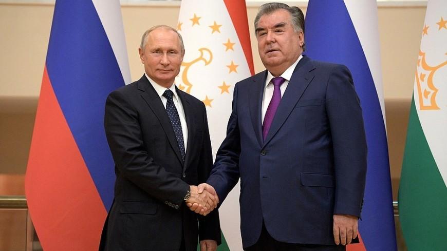 Высокий уровень отношений: Путин поздравил Рахмона с Днем независимости