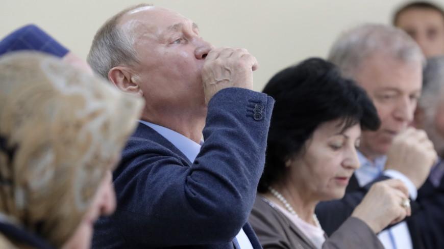 Путин выпил обещанную стопку водки с ополченцами Дагестана