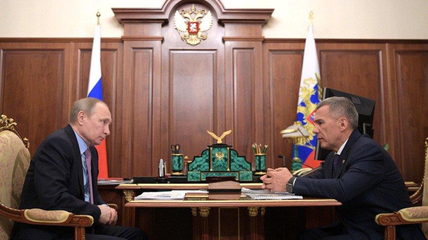 Путин пообещал рассмотреть вопрос финансовой помощи Татарстану