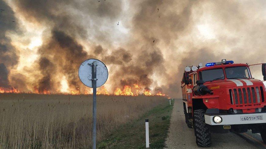 Пожары под Анапой: спасатели эвакуировали около тысячи человек