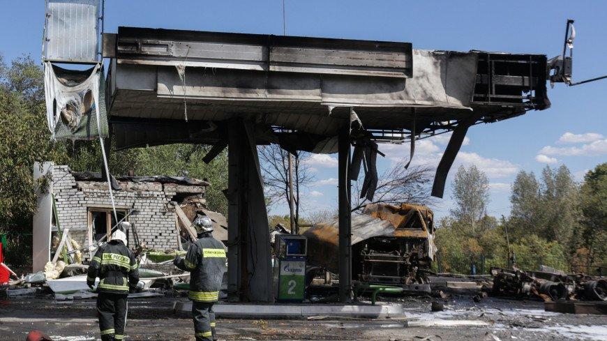 В Волгограде потушили пожар на газовой автозаправке