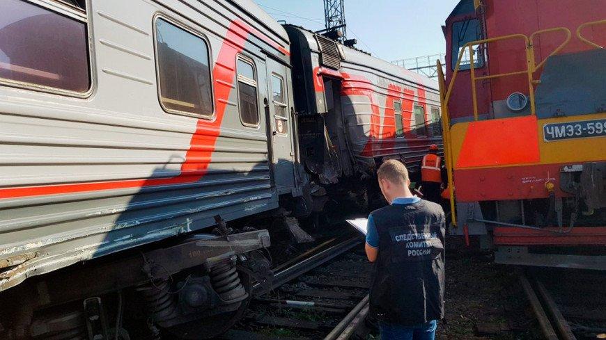 При столкновении двух поездов в Уфе с рельсов сошли два вагона