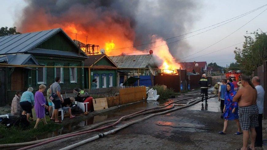 В Самаре потушен пожар, охвативший 10 домов