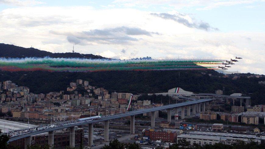 На месте рухнувшего моста в Генуе официально открыли новый