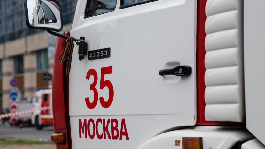 Пожар в здании Мосгоргеотреста на севере Москвы потушили