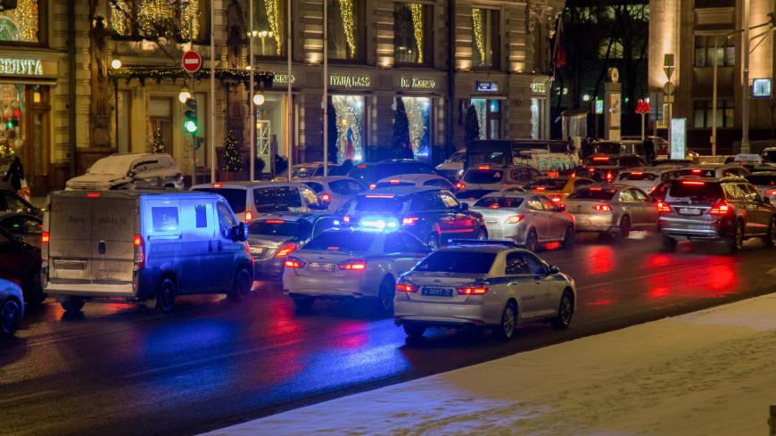 Предновогодний дорожный траффик