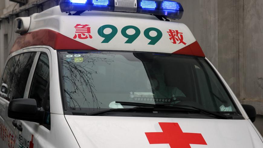 В Китае обрушился аттракцион с людьми