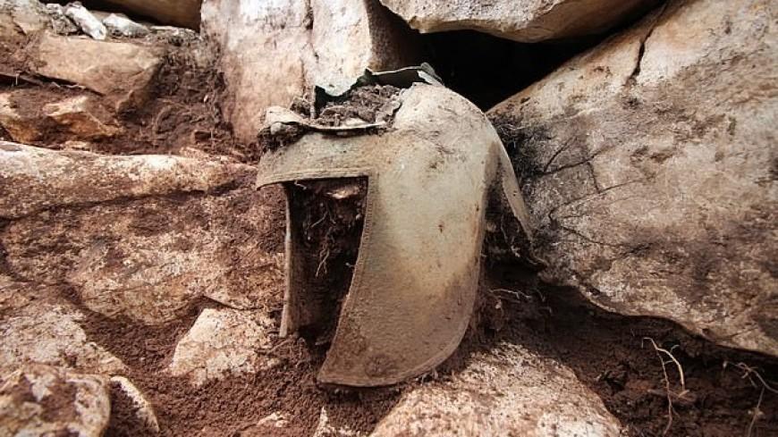 Шлем VII века до нашей эры нашли в скальной могиле в Хорватии