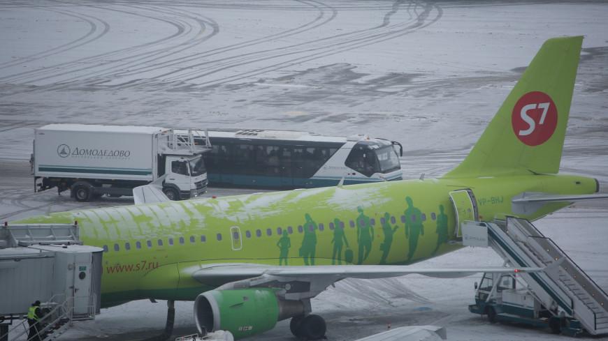 аэропорт, домодедово, самолет, взлетная полоса, s7